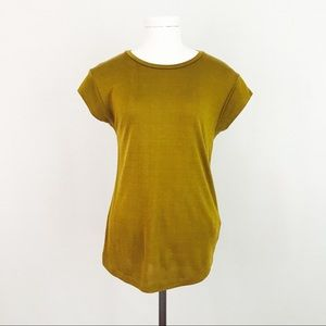 Chartreuse Capped Sleeve Top